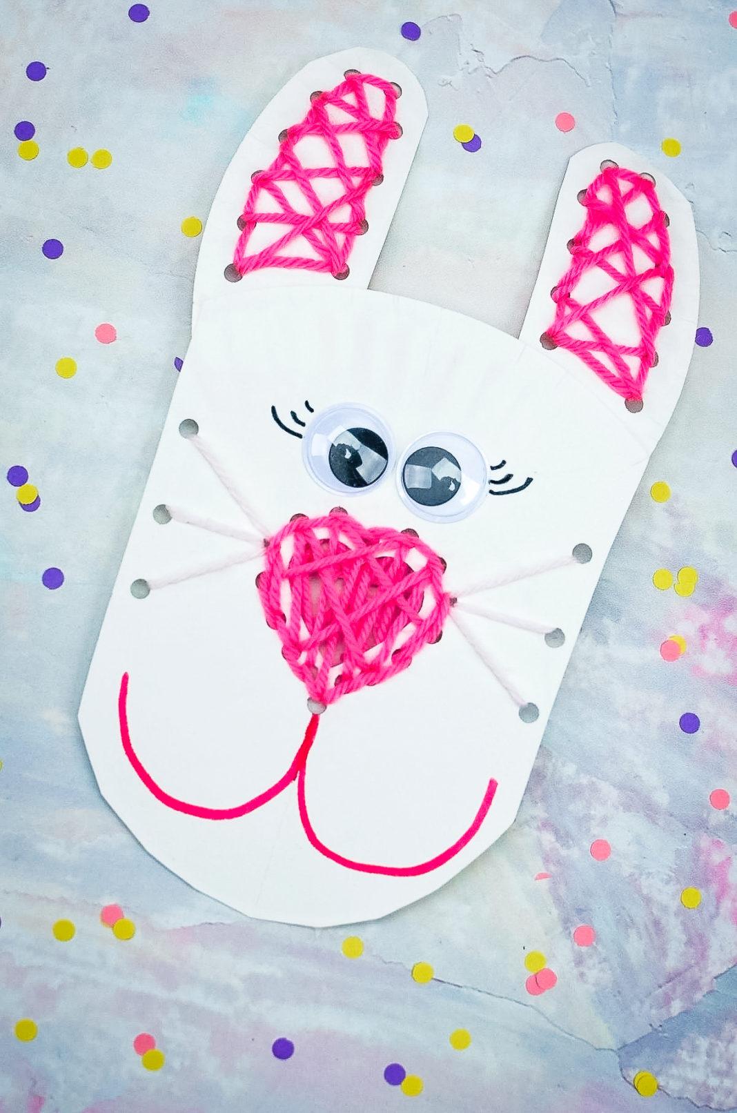 paper Bunny lacing craft
