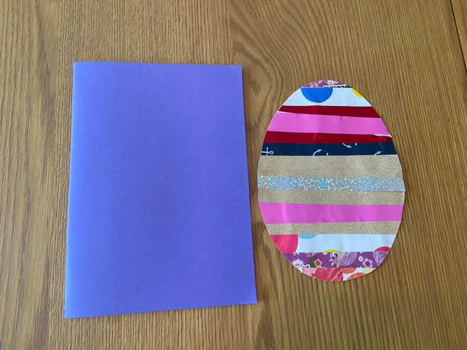 completed Easter egg craft