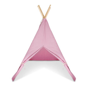 Pink Teepee with wooden poles