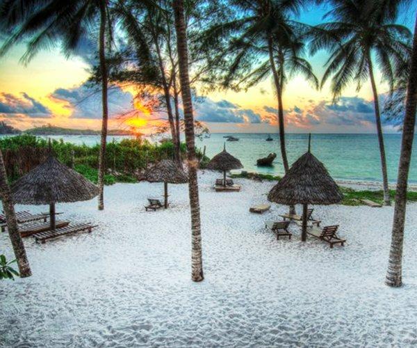 Sunset on Watamu beach by Turtle Bay Resort
