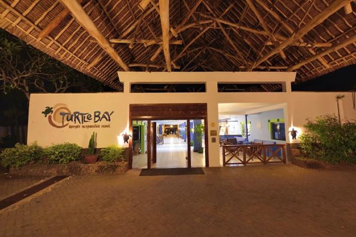 Turtle Bay Beach resort hotel entrance