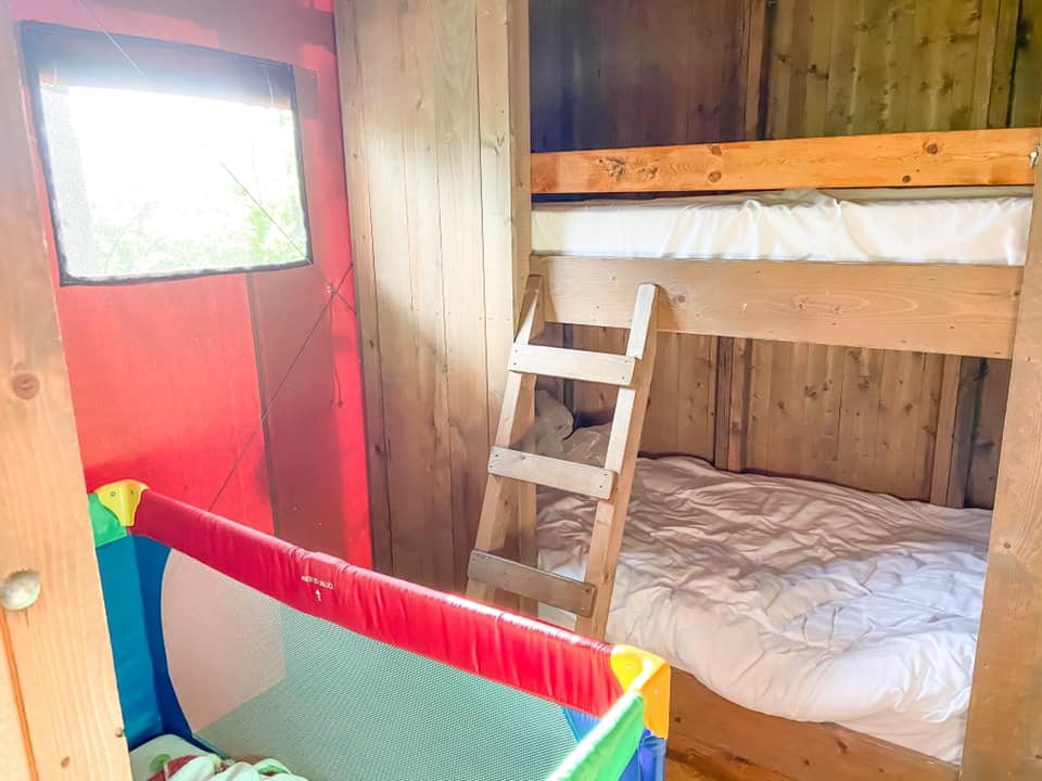 Bunk beds at layer marney glamping lodges
