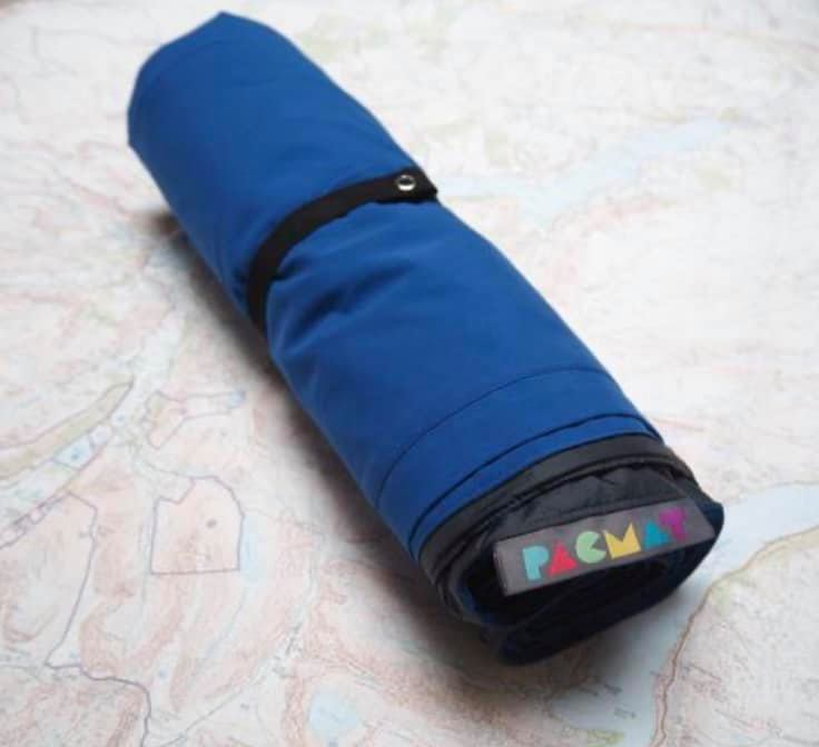 rolled up blue Pacmat