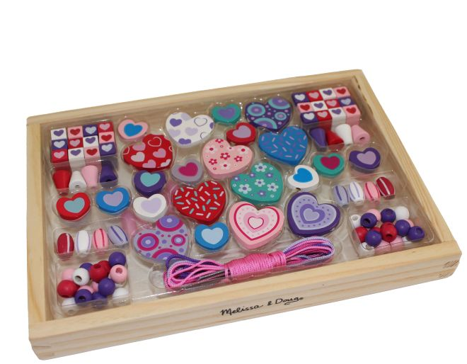 A box of coloured beads