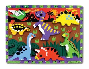 Wooden brightly coloured dinosaur puzzle