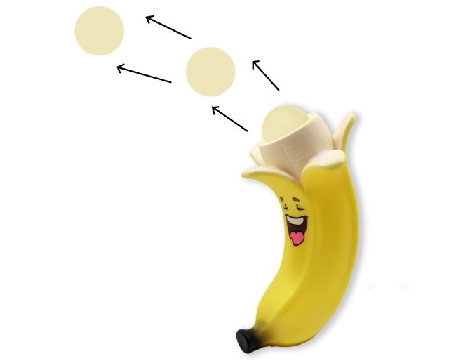 Banana ball popper