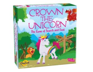 Crown the Unicorn game in a box for 5 year olds