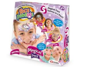 Magical face paint tattoos in the box