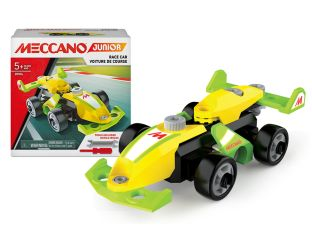 Racing car Meccano in yellow and green