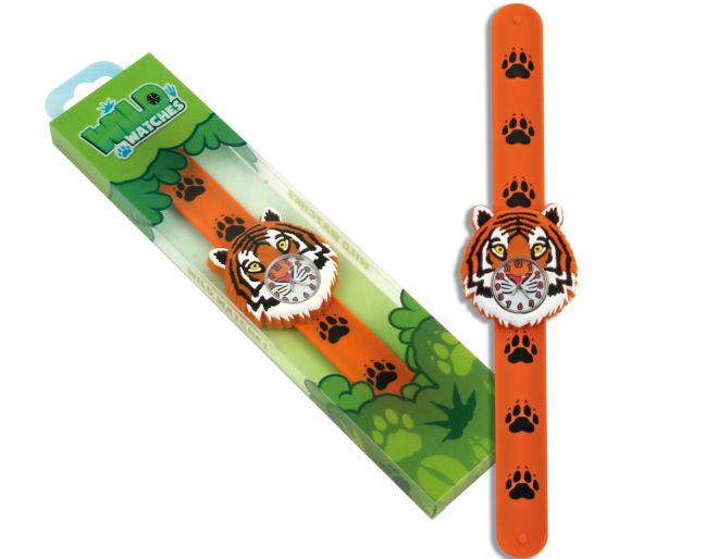 Orange tiger watch