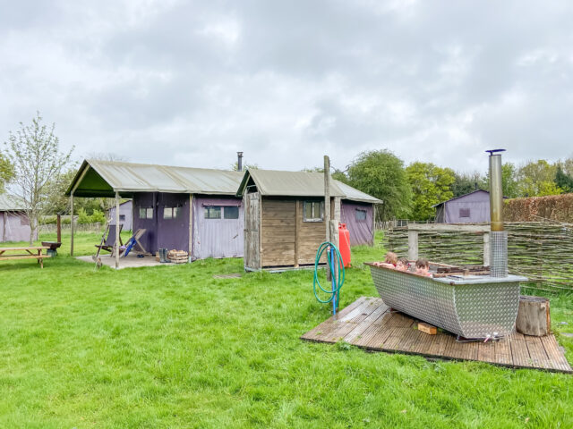 Feather Down glamping site with hot tub