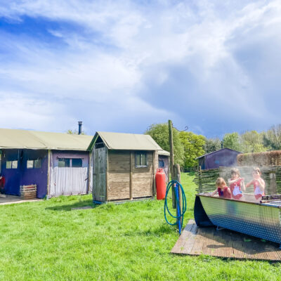 Glamping in Hampshire with Feather Down at Manor Farm