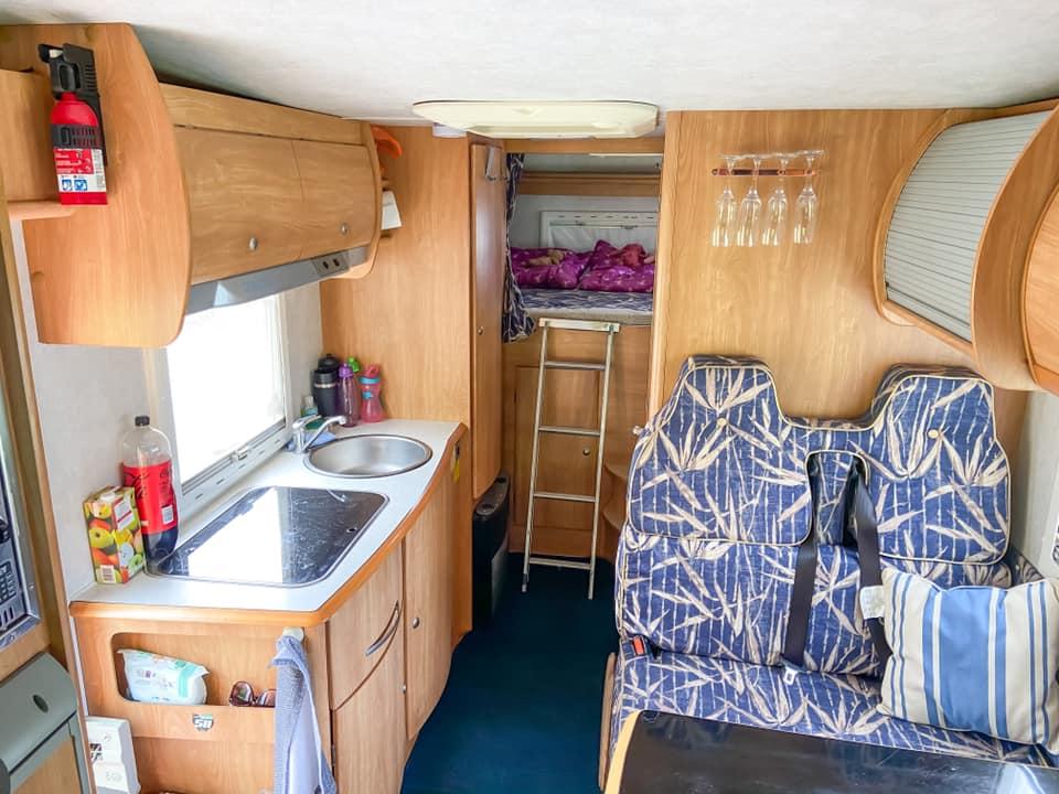 Inside of the Camptoo camper van