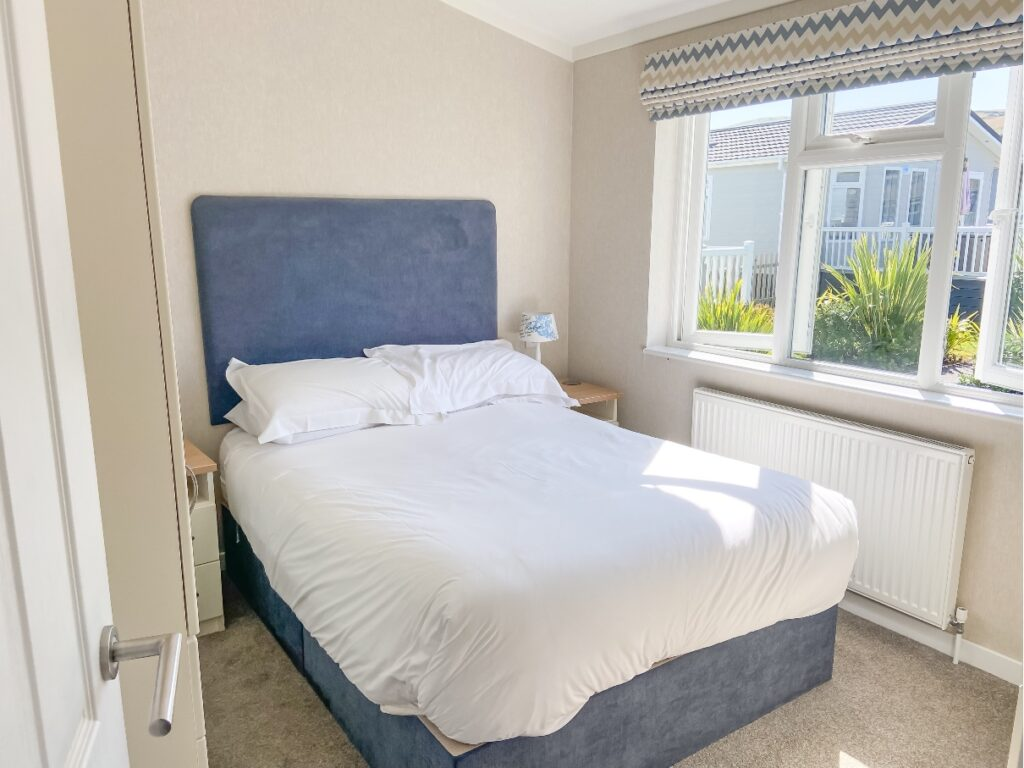 Double bedroom in the lodge at Croyde Bay Resort