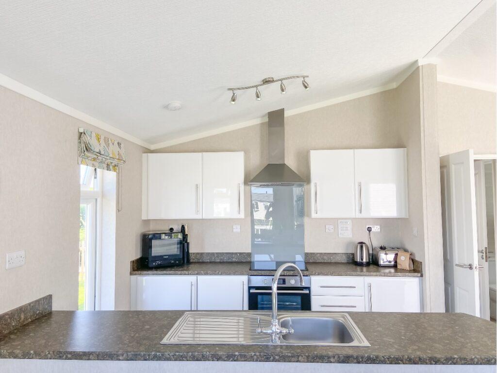 The kitchen at Croyde Bay Resort