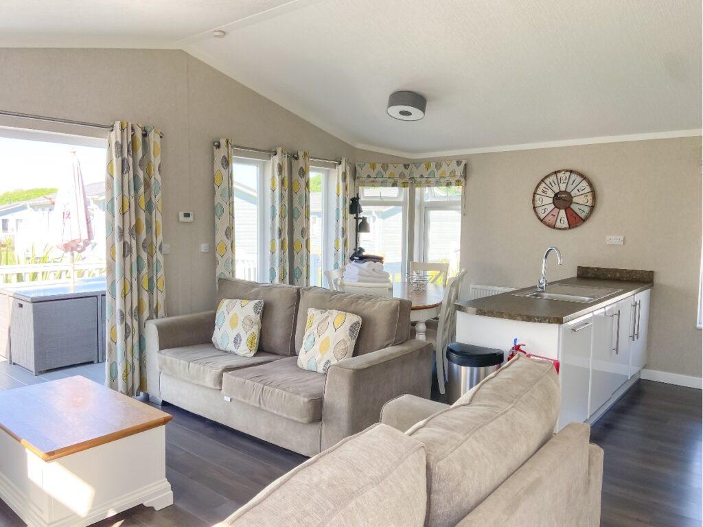 Inside a lodge at Croyde Bay Resort