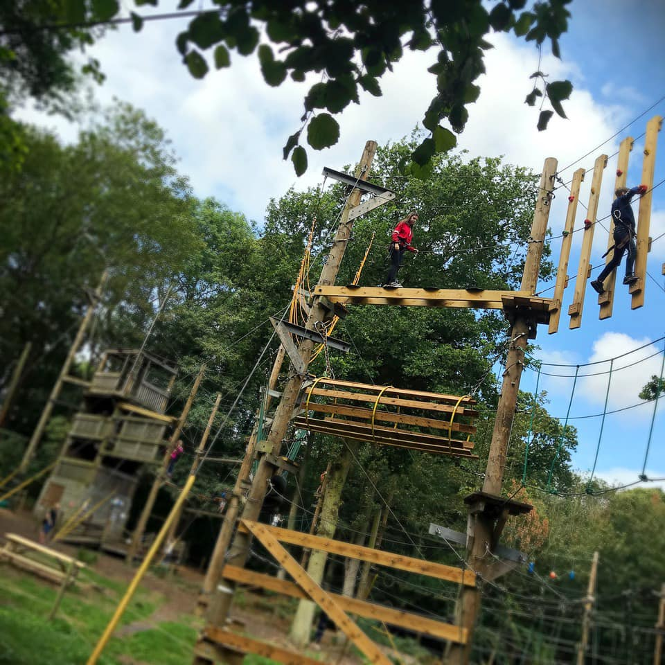 Nuclear high ropes course days out in essex