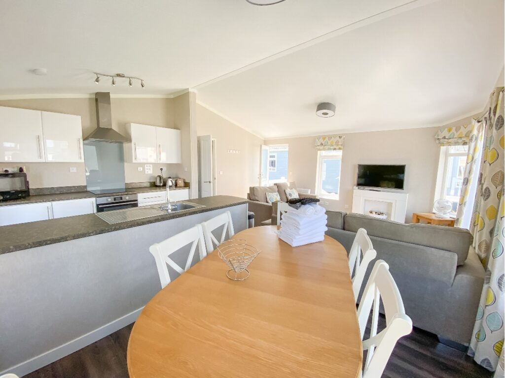 Dining area in the lodge at Croyde Bay Resort