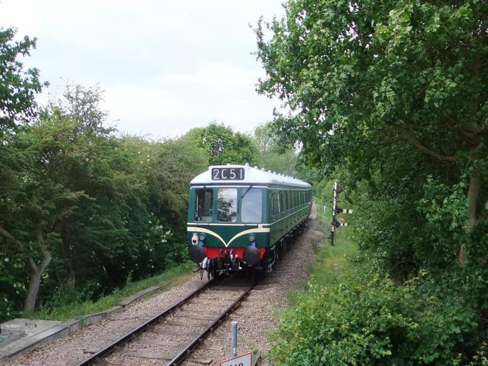 Colne Valley Railway train at station