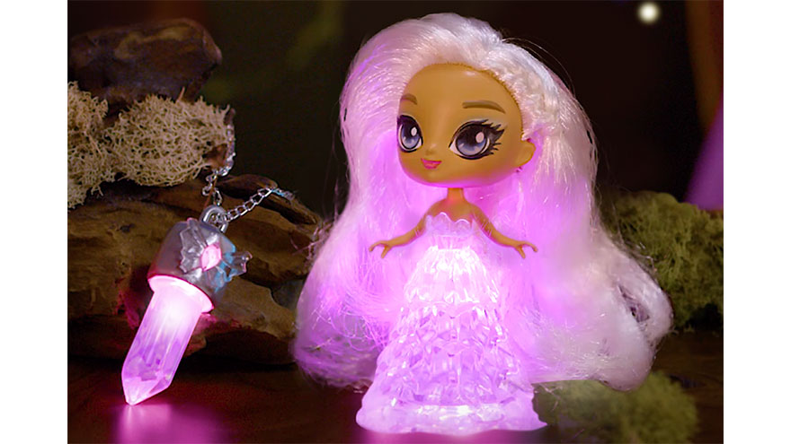 Crystalina pink light up doll - presents for 6 year olds