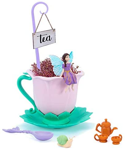 My fairy tea cup with a fairy sit-ing on the edge of the cup presents for 6 year olds