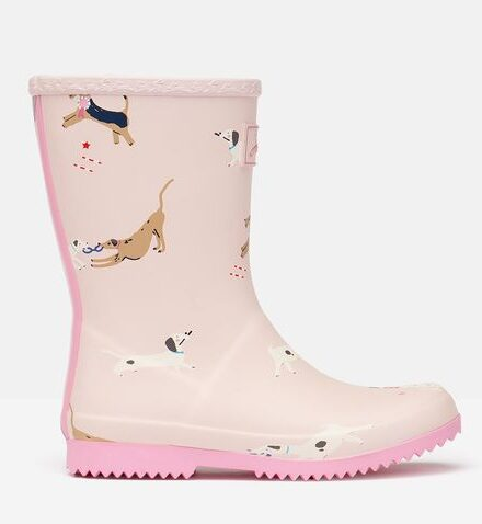 Joules pink wellies with dogs on presents for 6 year olds