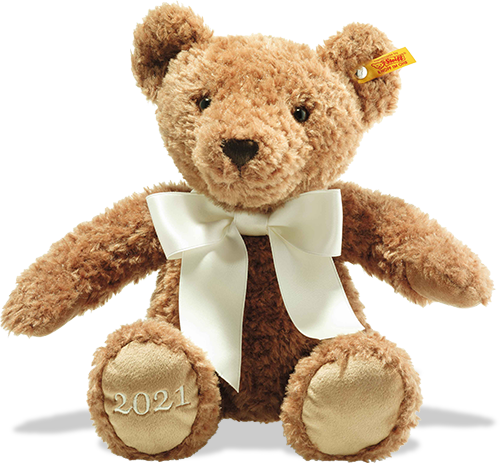 Steiff Brown Bear with a large white bow presents for 6 year olds